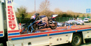 motorbike breakdown and towing